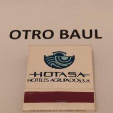 Cajas de Cerillas: CAJA DE CERILLAS ENTERA HOTA SA GRUPOS ASOCIADOS, LEER DESCRIPCION. Lote 223657641