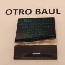 Cajas de Cerillas: CAJA DE CERILLAS BAR CARIBU, COMPLETA, LEER DESCRIPCION. Lote 223657771