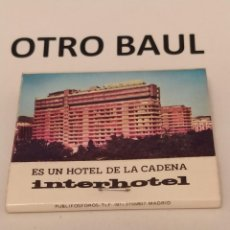 Cajas de Cerillas: CAJA DE CERILLAS INTERHOTE, HOTEL LUZ GRANADA, COMPLETA, LEER DESCRIPCION. Lote 223657995