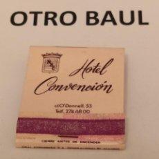 Cajas de Cerillas: CAJA DE CERILLAS HOTEL CONVENCION MADRID, COMPLETA, LEER DESCRIPCION. Lote 223658048
