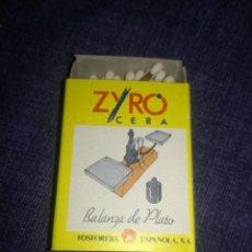 Cajas de Cerillas: CERILLAS ZYRO CERA.. Lote 225494710