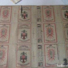 Cajas de Cerillas: CARTON CON 6 CARATULA DE CAJA DE CERILLAS FINAS Nº1 COMPAÑIA ARRENDATARIA DE FOSFOROS .HACIENDA. Lote 229915865