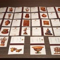 Cajas de Cerillas: COLECCION COMPLETA DE 20 CAJAS DE FOSFOROS SERIE CERÁMICA INDIA. Lote 231439190