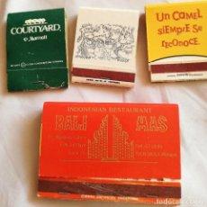 Cajas de Cerillas: LOTE DE 4 CAJETILLAS CARTERITAS PUBLICITARIAS DE CERILLAS. Lote 231831075