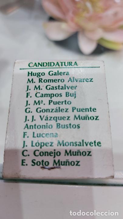 Cajas de Cerillas: CAJA DE CERILLAS DEL BETIS CF PARA LAS ELECCIONES DE PRESIDENTE DEL CLUB -HUGO GALERA- - Foto 2 - 233431150