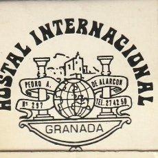 Cajas de Cerillas: CAJA CERILLAS HOSTAL INTERNACIONAL GRANADA. Lote 233550045