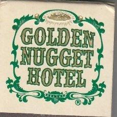 Cajas de Cerillas: CERILLAS GOLDEN NUGGET HOTEL, LAS VEGAS, NEVADA (EE.UU). LLENA. Lote 233566350