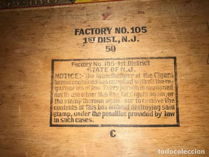 Cajas de Cerillas: ANTIGÜA CAJA DE PUROS EN MADERA - Foto 2 - 236368600