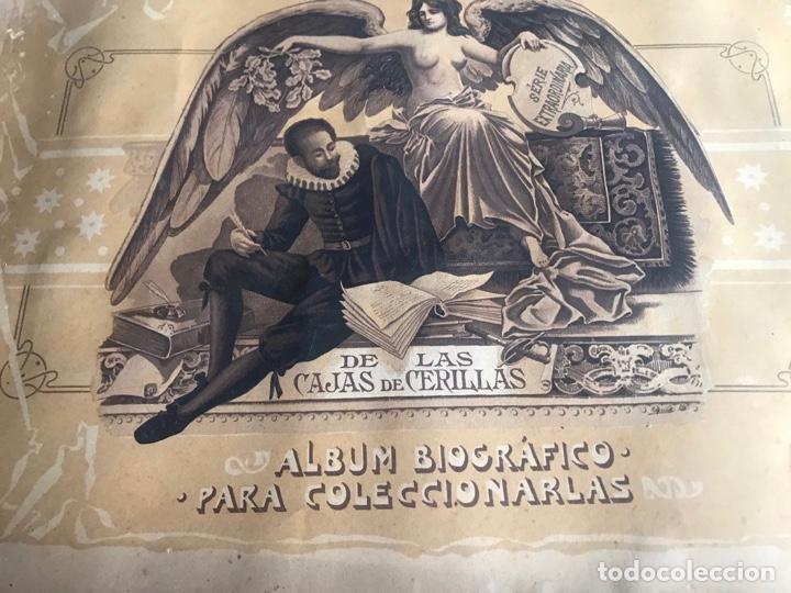 BONITA COLECCIÓN , ALBUM BIOGRÁFICO PORTADAS CAJAS CERILLAS RECUERDOS CERVANTINOS . (Coleccionismo - Objetos para Fumar - Cajas de Cerillas)
