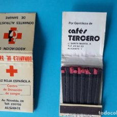 Caixas de Fósforos: CARTERITA DE CERILLAS DE CRUZ ROJA ESPAÑOLA. Lote 236976735