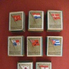 Cajas de Cerillas: LOTE DE 8 CAJITAS DIFERENTES DE CERILLAS. BANDERAS PAISES. FOSFORERA ESPAÑOLA. (CAJAS, CERILLA). Lote 237003210