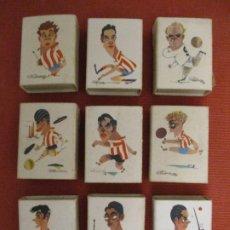 Boîtes d'Allumettes: LOTE DE 9 CAJITAS DIFERENTES DE CERILLAS. FÚTBOL. FOSFORERA ESPAÑOLA. (CAJAS, CERILLA). Lote 237003425