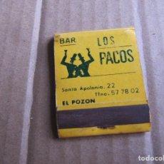Cajas de Cerillas: BAR LOS PACOS EL POZON. Lote 238298315