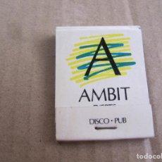 Cajas de Cerillas: AMBIT - D'ERTS - DISCO - PUB - PRINCIPAT D'ANDORRA. Lote 238503805