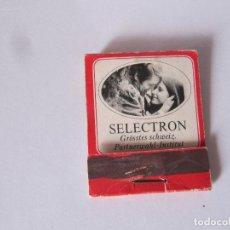 Cajas de Cerillas: SELECTRON GRÖSSTES SCHWEIZ PARTNERWAHL-INSTITUT. Lote 239908700