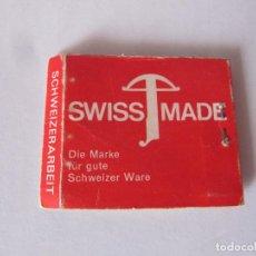 Cajas de Cerillas: GEMSEN HOLZER SWISS MADE. Lote 239909145