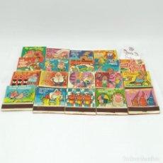 Cajas de Cerillas: LOTE DE 19 CAJETILLAS. COLECCIÓN DE REFRANES Y DICHOS, INTERNOS TEXTILES EUROPEOS, RIGOL. Lote 240456820