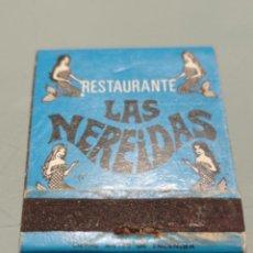 Cajas de Cerillas: ANTIGUA CAJA CERILLAS RESTAURANTE LAS NEREIDAS. DENIA. Lote 242874820