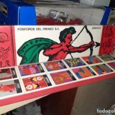 Cajas de Cerillas: FÓSFOROS DEL PIRINEO.COLECCIÓN ZODIACO.CAJAS NUEVAS Y LLENAS.AÑOS 70.. Lote 243255180