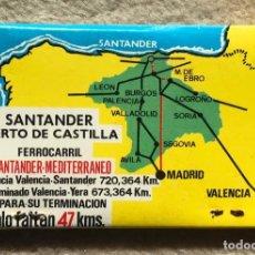 Boîtes d'Allumettes: CAJA DE CERILLAS SANTANDER PUERTO DE CASTILLA - FERROCARRIL SANTANDER MEDITERRANEO (SOLO FALTAN 47 K. Lote 243824830