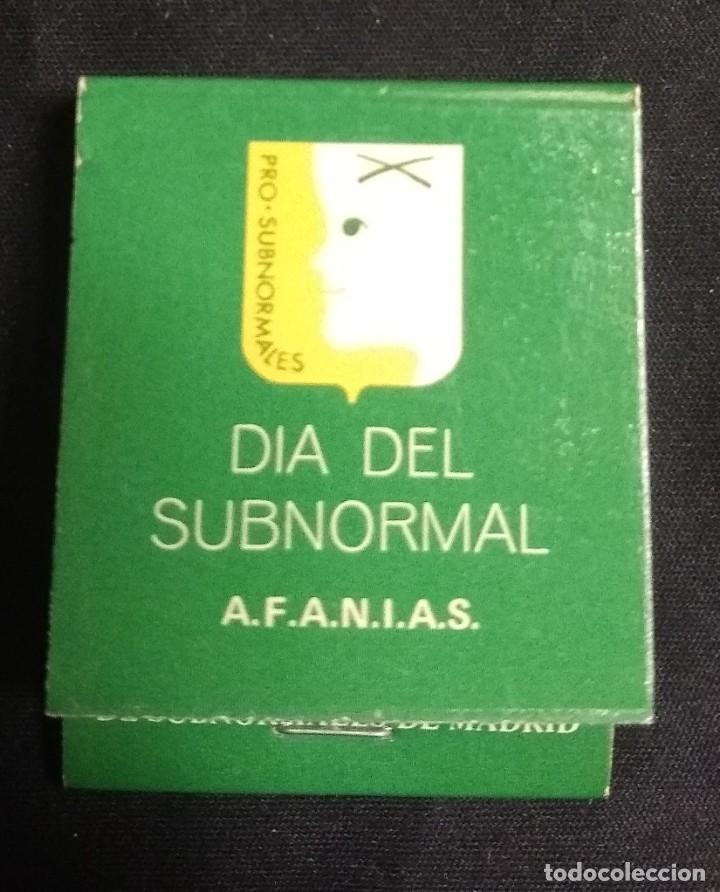 Cajas de Cerillas: CERILLAS - ANTIGUA CARPETITA * DÍA DEL SUBNORMAL* - Foto 4 - 245360420