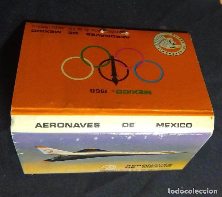 Cajas de Cerillas: CERILLAS - ANTIGUA CARPETITA * AERONAVES DE MEXICO ** JJ.OO. MEXICO 1968 - GNRAL. FOSFORERA SA ** - Foto 2 - 245360750