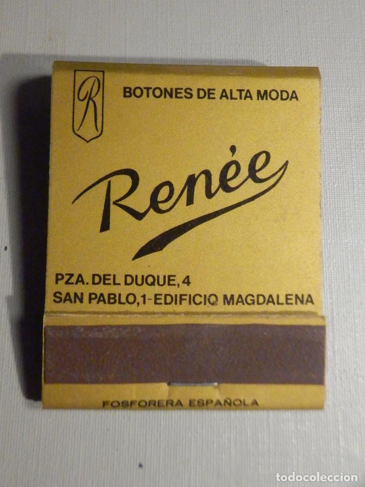 Cajas de Cerillas: Carterita cerillas - 20 fósforos - Botones de alta moda Reneé - Sevilla - Completa - Foto 2 - 245383760