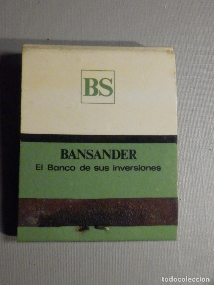 Cajas de Cerillas: Carterita cerillas - 20 fósforos - Banco de Santander - Sevilla - Completa - Foto 3 - 245383975
