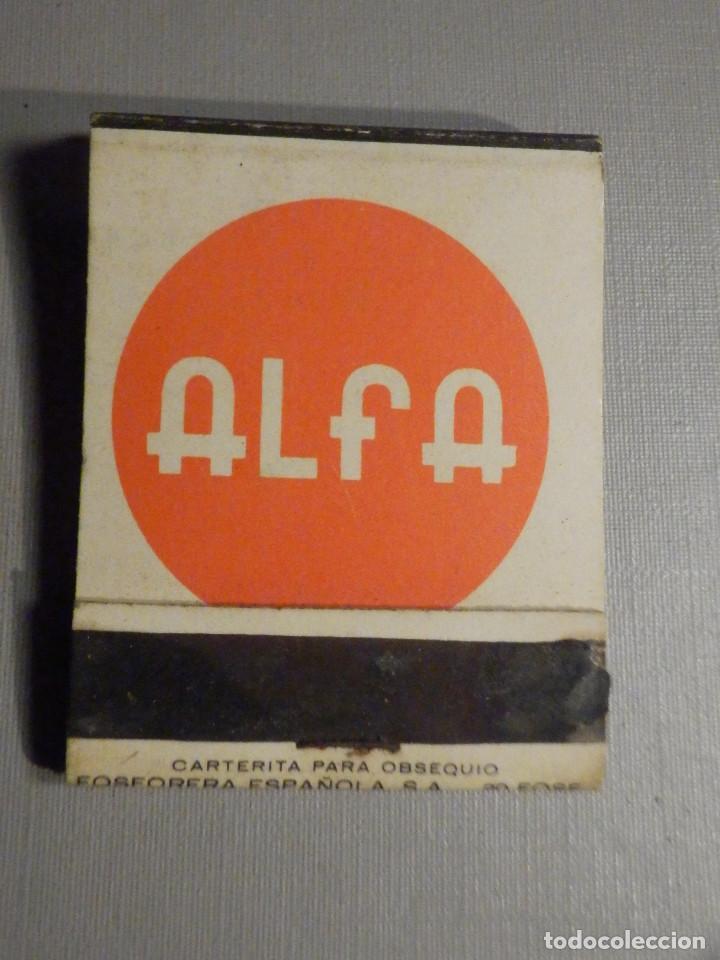 Cajas de Cerillas: Carterita cerillas - 20 fósforos - Máquinas de coser - Alfa - Completa - Foto 2 - 245384170