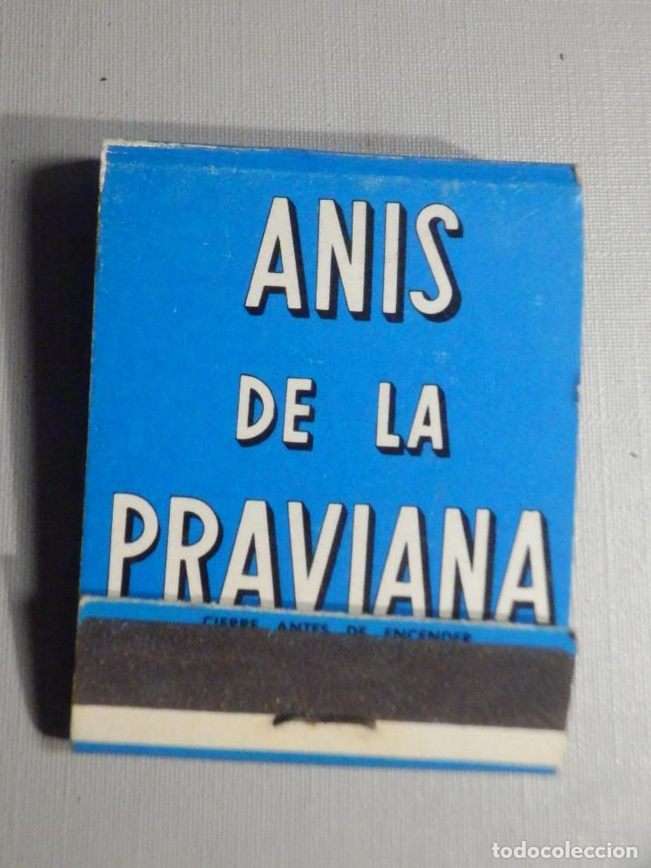 CARTERITA CERILLAS - 20 FÓSFOROS - ANIS DE LA PRAVIANA - COMPLETA (Coleccionismo - Objetos para Fumar - Cajas de Cerillas)