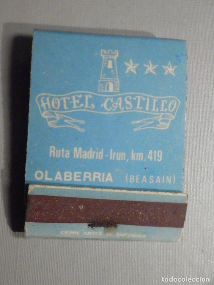 CARTERITA CERILLAS - 20 FÓSFOROS - HOTEL CASTILLO - OLABERRIA - BEASAIN - COMPLETA (Coleccionismo - Objetos para Fumar - Cajas de Cerillas)