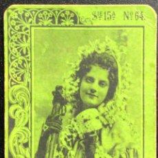 Cajas de Cerillas: FOTOTIPIA SERIE 15 VERDE Nº 64. Lote 246277985
