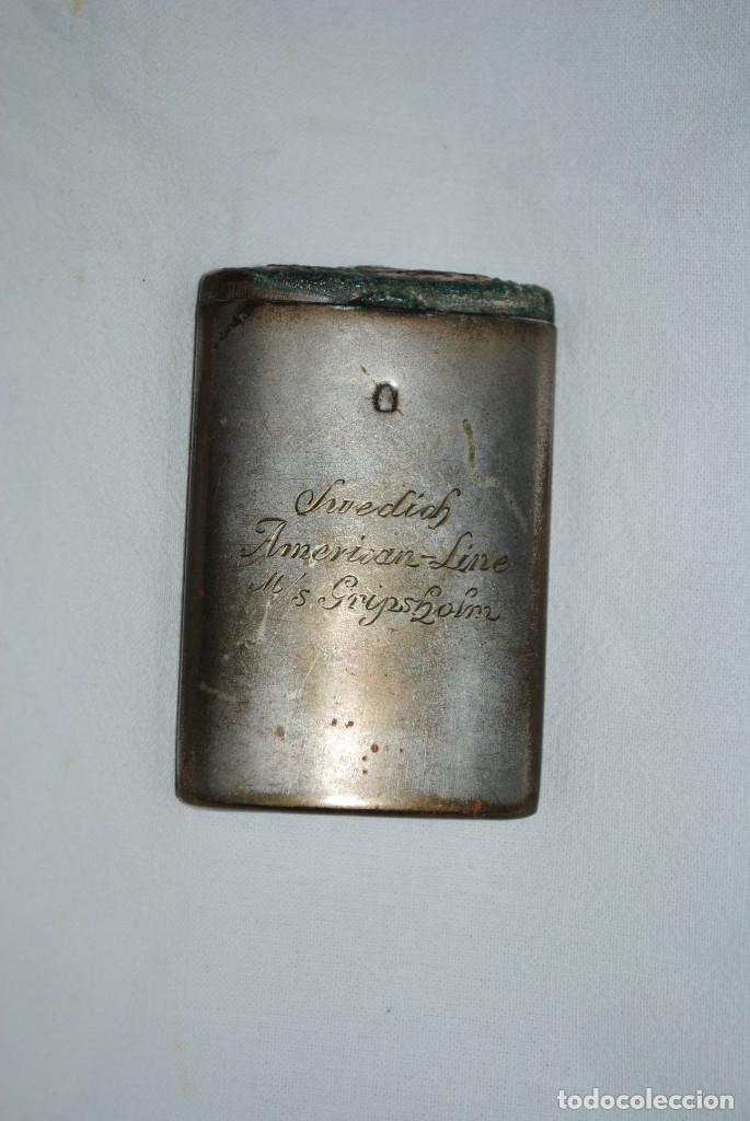 ANTIGUA CERILLERA METALICA . (Coleccionismo - Objetos para Fumar - Cajas de Cerillas)