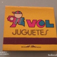 Cajas de Cerillas: RETRO ANTIGUA CARTERITA CERILLAS JUGUETES VOL, BOUTIQUE, BARCELONA. Lote 252587380