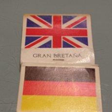 Cajas de Cerillas: RETRO ANTIGUAS CAJAS CERILLAS BANDERAS ALEMANIA, GRAN BRETAÑA. Lote 253568525