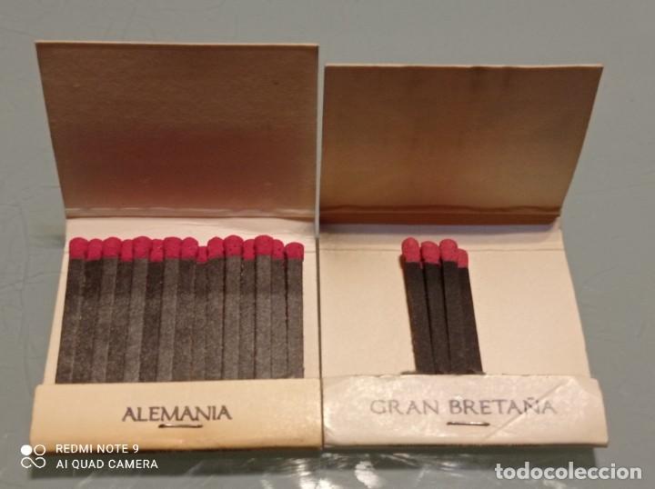 Cajas de Cerillas: Dos Antiguas Cajas CERILLAS BANDERAS ALEMANIA, GRAN BRETAÑA - Foto 3 - 253568525