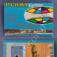Cajas de Cerillas: ANTIGUA CAJA DE CERILLAS PERMA EXPRESS - XXXVI FERIA INTERNACIONAL DE MUESTRAS - 1968 - BARCELONA. Lote 254075175