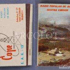 Cajas de Cerillas: ANTIGUA CAJA DE CERILLAS RADIO POPULAR DE BILBAO - COPE - ONDAS POPULARES. Lote 254075820