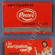 Cajas de Cerillas: ANTIGUA CAJA DE CERILLAS AMORTIGUADORES RECORD - TURISMO - RALLYE. Lote 254076650