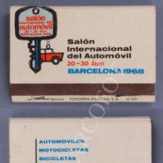 Cajas de Cerillas: ANTIGUA CAJA DE CERILLAS SALON INTERNACIONAL DEL AUTOMOVIL - BARCELONA 1968. Lote 254083840