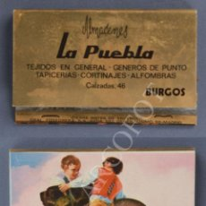Cajas de Cerillas: ANTIGUA CAJA DE CERILLAS ALMACENES LA PUEBLA - BURGOS. Lote 254085230