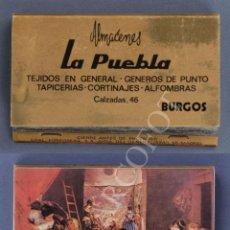Cajas de Cerillas: ANTIGUA CAJA DE CERILLAS ALMACENES LA PUEBLA - BURGOS. Lote 254085700