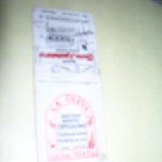 Cajas de Cerillas: CARTERITA CERILLAS PUBLICIDAD. BAR MESÓN APUNTADORES. LA CUEVA. BAR SA VOLTA. PALMA DE MALLORCA.. Lote 254641235