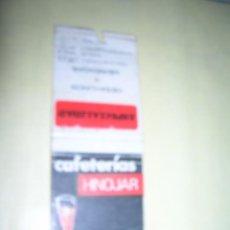 Cajas de Cerillas: CARTERITA CERILLAS PUBLICIDAD. CAFETERÍAS HINOJAR. PASEO DE LAS ACACIAS, 3. TOLEDO, 65. MADRID.. Lote 254641840