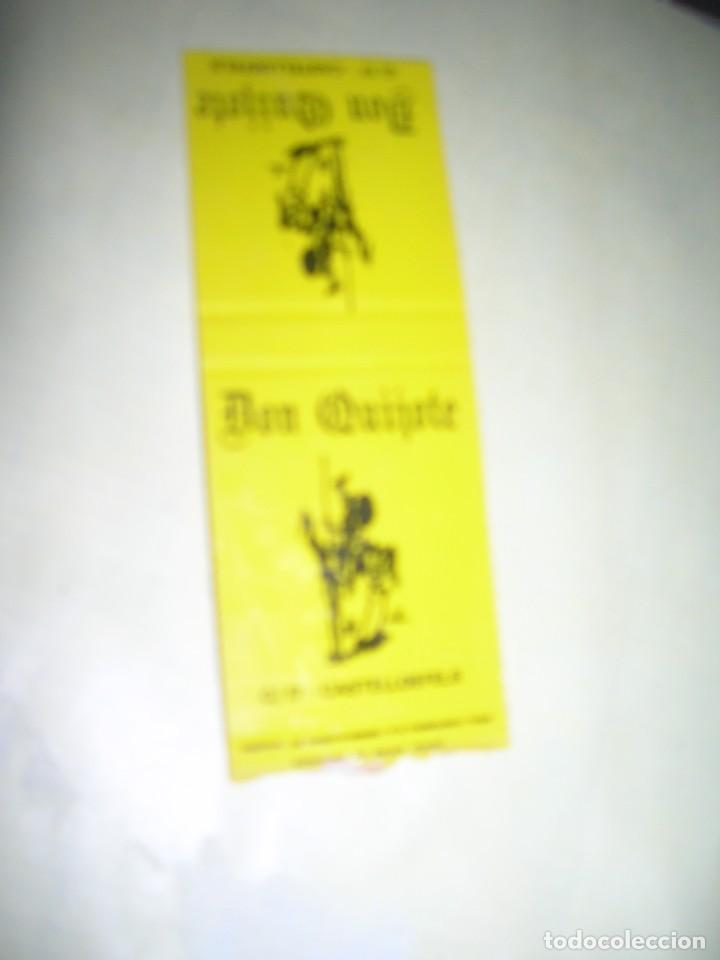 CARTERITA CERILLAS PUBLICIDAD. CAFETERÍAS HINOJAR. PASEO DE LAS ACACIAS, 3. TOLEDO, 65. MADRID. (Coleccionismo - Objetos para Fumar - Cajas de Cerillas)