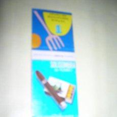 Cajas de Cerillas: CARTERITA CERILLAS PUBLICIDAD. SOLISOMBRA DE RUMBO. TABACOS RUMBO. VII FERÍA INTERNACIONAL DEL CAMPO. Lote 254643495