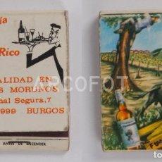 Cajas de Cerillas: ANTIGUA CAJA DE CERILLAS CAFETERÍA PUERTO RICO - BURGOS. Lote 254644740