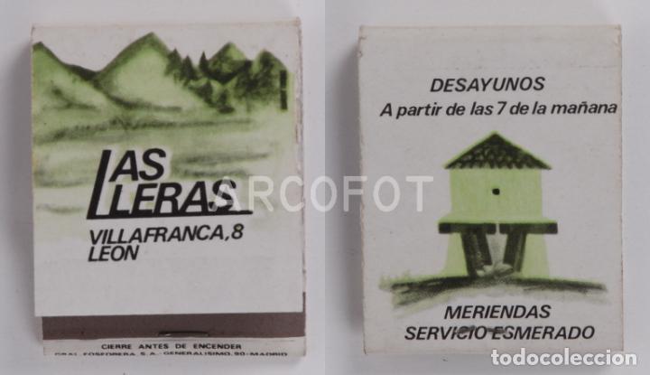 ANTIGUA CAJA DE CERILLAS LAS LLERAS - LEON (Coleccionismo - Objetos para Fumar - Cajas de Cerillas)