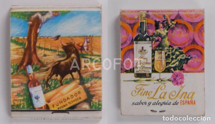 ANTIGUA CAJA DE CERILLAS FINO LA INA - ESPAÑA (Coleccionismo - Objetos para Fumar - Cajas de Cerillas)