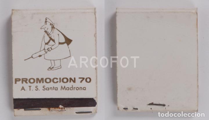 ANTIGUA CAJA DE CERILLAS PROMOCION 70 - A.T.S. SANTA MADRONA (Coleccionismo - Objetos para Fumar - Cajas de Cerillas)